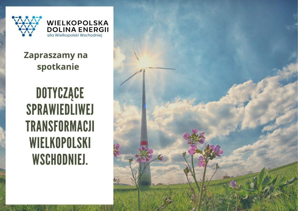 Wirtualne spotkanie dotyczące sprawiedliwej transformacji Wielkopolski Wschodniej