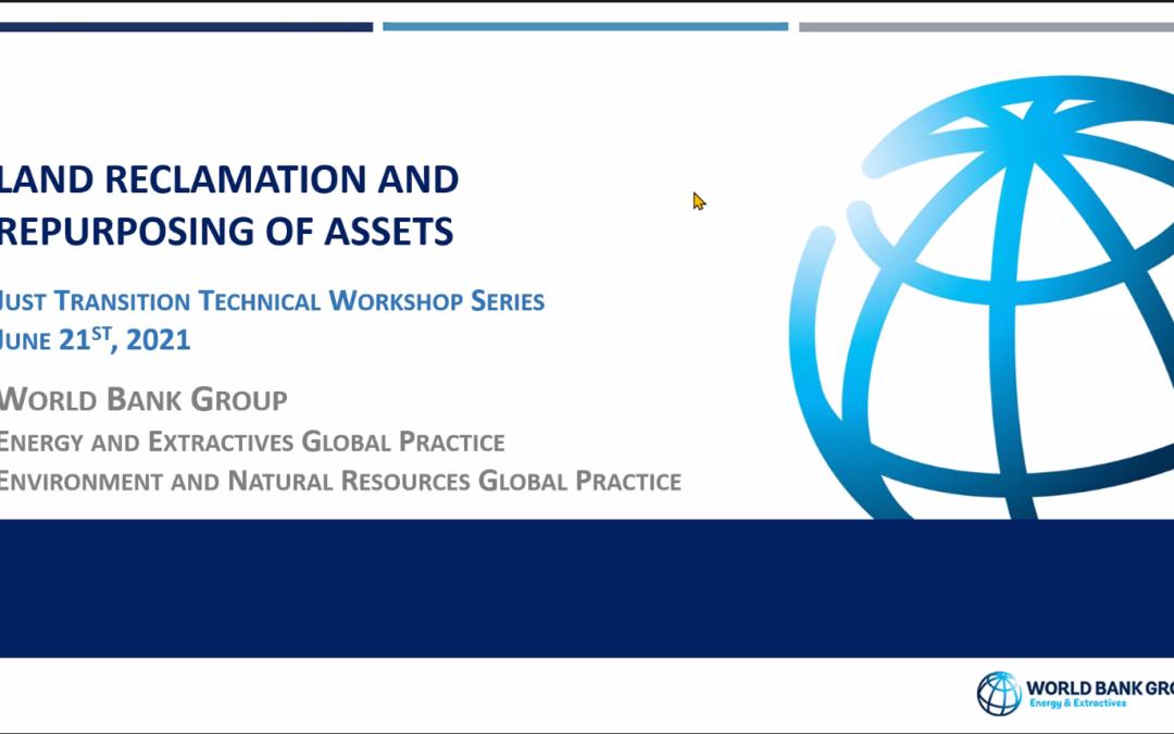 Warsztat Banku Światowego: Rekultywacja Terenów Pogórniczych