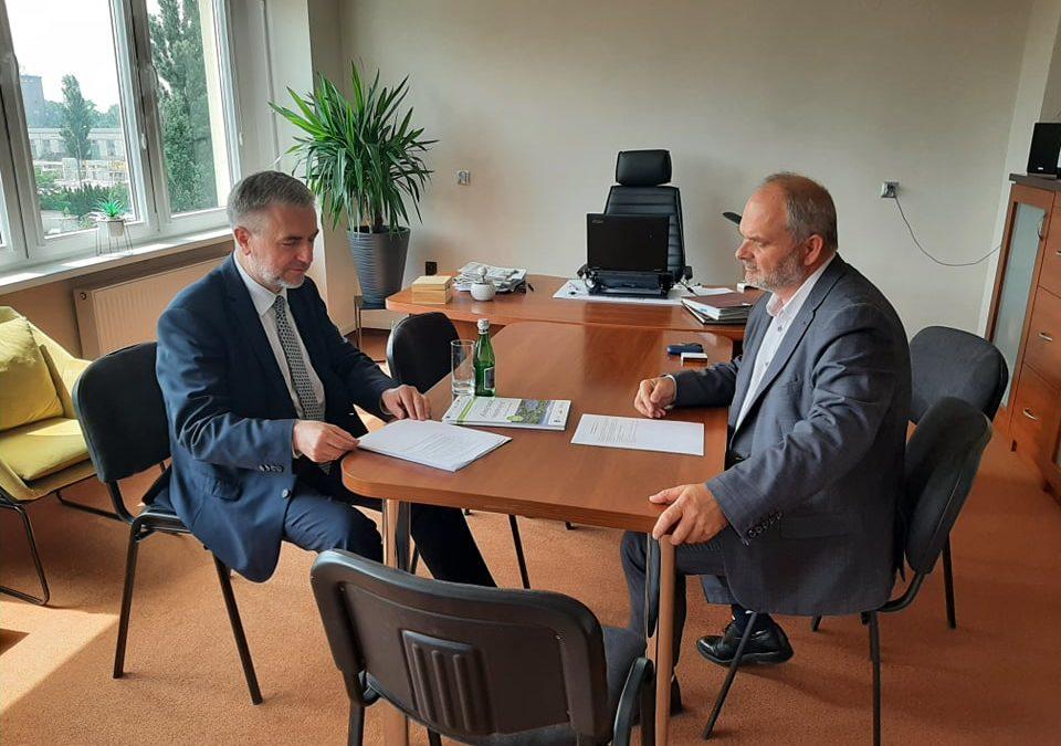 Wizyta Marszałka Marka Woźniaka w Agencji Rozwoju Regionalnego S.A. w Koninie